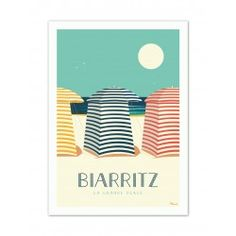 Marcel, Friends Poster, Biarritz, All Pictures, Illustrations Posters, Paper, Beach Huts, Inspiration, Illustrator