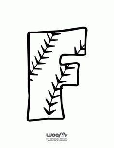 Printable Baseball Alphabet Letters Baseball Alphabet Letter F – Craft Jr. Sports Theme Classroom, School Classroom, Classroom Setup, Kindergarten Classroom, Free Printable Worksheets, Printable Letters, Printables, Preschool Learning Activities, Kids Learning