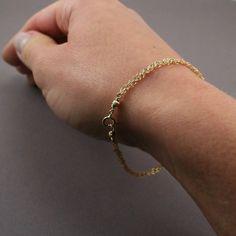 Gold Chain Bracelet  Braided Chain Bracelet  by GosiaMeyerJewelry, $45.00