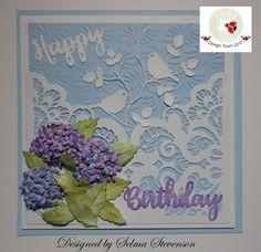 Happy Birthday Hydrangea Lace Pocket