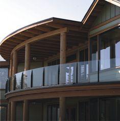 patio railings glass | Mystic Frameless Topless Glass Guardrail Railing stainlesssteelrailings.com