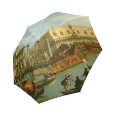 Bucentaur Return to Palazzo Ducale Canaletto Foldable Umbrella.