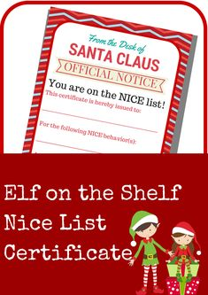 Elf on the Shelf Nic