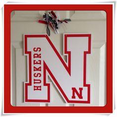 Nebraska huskers door decor