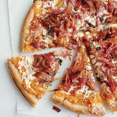 Sweet Potato, Balsamic Onion and Soppressata Pizza