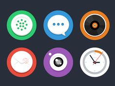 flat icon design 03 Examples of Modern Flat Icon Design Flat Design Icons, Icon Design, Flat Icons, Ui Inspiration, Bullet Journal Inspiration, Watermark Ideas, Create Icon, Simple Icon, Themes Themes