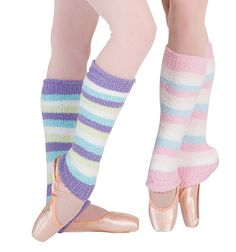 Pastel striped legwarmers from Capezio.