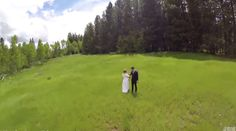 Beautiful Aerial Wedding Photography gone wrong. Wait for it. Oops.