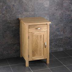 Ohio Solid Oak Square Cloakroom Bathroom Vanity Cabinet with no Sink Oak Bathroom Cabinets, Oak Cabinets, Cupboards, Narrow Cabinet, Narrow Bathroom, Basin Taps, Single Doors, Solid Oak, Ohio