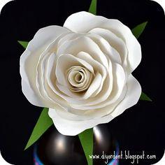 Want this #paper #rose #template? Follow diyordont.blogspot.com!!