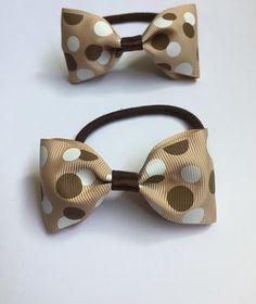 Set of two polka dot hair bows £1.50