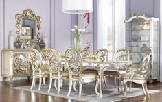 Silver Dining Room Chairs