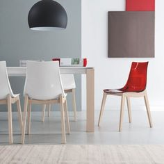 Led W Chair by Connubia Calligaris. The wooden legs come in a range of finishes and are teamed with contemporary transparent seat colours. New Furniture, Furniture Design, Chair Bed, Swivel Chair, Wooden Leg, Camping Chairs, Led, Furniture Collection, Diy Home Decor