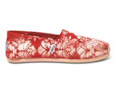 Gabriel Lacktman Hand-Bleached Damask Red Women's Classics | TOMS.com #toms