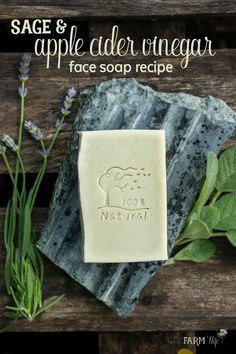 This herbal vinegar face soap recipe features sage for its astringent and anti-inflammatory properties, plus chlorella, a nutritious algae that has impressive acne fighting and anti-aging skin benefits. Soap Making Recipes, Homemade Soap Recipes, Homemade Soap Bars, Apple Cider Vinegar Face, Diy Savon, Makeup Tricks, Face Soap, Soap Making Supplies, Goat Milk Soap