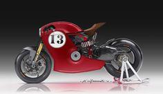 Ducati Cafe Racer Design by Kenyamasaki #motorcyclesdesign #diseñodemotos   caferacerpasion.com