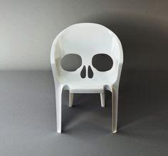 skull chair. Original. I love the skulls, but not the normal skulls. Great