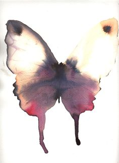 Large dark purple and red butterfly with white gold wings butterfly waterco Red Butterfly, Butterfly Watercolor, Watercolor Print, Watercolor Paintings, Watercolor Pencils, Watercolours, Feeling Pictures, Animal Masks, Amazing Drawings