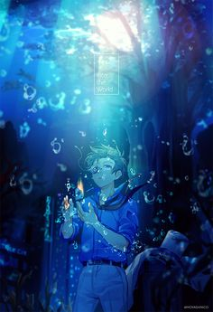 Twitter Magic Kaito, Magic Anime, Dc Anime, Anime Guys, Anime Art, Blue Hair Anime Boy, Kaito Kuroba, Kaito Kid, Detective Conan Wallpapers