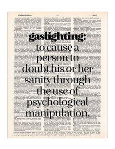 Gaslighting Definition Dictionary Print