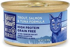 Natural Balance Wild Pursuit Canned Cat Trout Salmon  Tuna Formula 243oz -- This is an Amazon Affiliate link. You can get more details by clicking on the image.