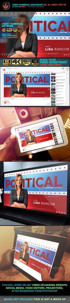 Political YouTube Video Thumbnail Screenshot Template 2 - YouTube Social Media