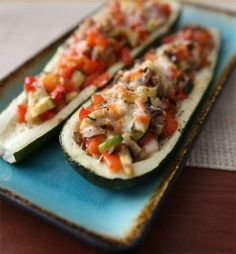 Veggie Lovers Stuffed Zucchini Recipe - Simple, Easy, and Nutritious Zucchini Recipes Vegetable Recipes, Vegetarian Recipes, Cooking Recipes, Healthy Recipes, Healthy Food, Good Food, Yummy Food, Magic Recipe, Ground Beef Recipes
