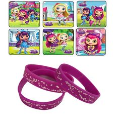 24 Little Charmers Stickers & 12 Star Party Favor Wristbands