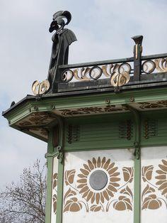 Karlsplatz Pavillions designed by Otto Wagner - Vienna