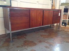 Lehigh-Leopold MCM credenza. Available now at Mid Mod Collective. Email midmodcollective@gmail.com for more info. SOLD!