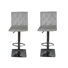 Fancy Adjustable Height Swivel Bar Stool with Cushion