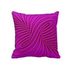 Cute red fuchsia swirl abstract design throw pillow