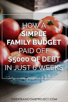 How A Simple Family Budget Paid Off $5000 In Just 6 Weeks #debt #budget…