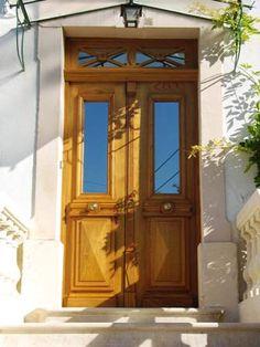 Porte d 39 entr e porte 1900 avec grille en fonte porte - Porte d entree avec imposte vitree ...