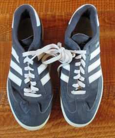 Men's adidas Originals Samba Shoes Legend Ink White Navy Soccer Super Suede USED #adidas #FashionSneakers