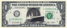 TITANIC - Real Dollar Bill Cash Money Collectible Memorabilia Celebrity Novelty by Vincent-the-Artist, $7.77 USD