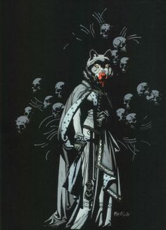 Lycan was an ancient Greek king turned wolf by the Gods. Mike Mignola
