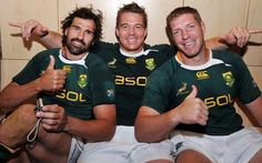 South Africa has some of the best looking Rugby players in the world....Victor, John and Bakkies...