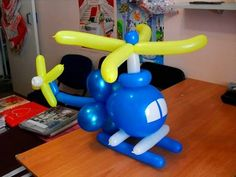 helicóptero de globos, como hacer helicóptero con globos, globoflexia - YouTube