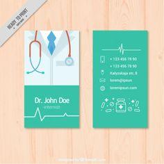 Tarjeta médica con fonendoscopio Vector Premium