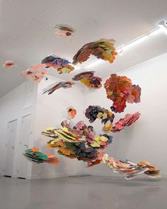 Suspended Cloud Paintings - Dutch Artist Joris Kuipers is Whimsically Colorful (GALLERY)
