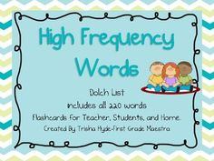 First Grade Sight Words, Dolch Sight Words, Dolch List, Fry Words, Daily Five, High Frequency Words, First Grade Classroom, Teaching, Group