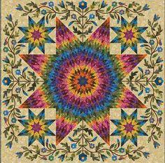 Rainbow Star Quilt by Edyta Sitar
