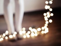 OVERSTOCK  50 off  Winter Bokeh Twinkle Lights by ChelseaVictoria, $15.00