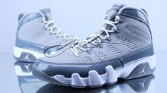 Air Jordan IX Cool Grey. My brother bought these shoes about a year ago. Has yet to wear it and will kill me if I wear em lol