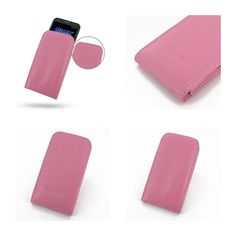 PDair Leather Case for Asus PadFone 2 - Vertical Pouch Type(Petal Pink)