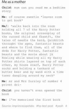"Harry Potter! Totally me!! And yeah but it is supposed to be ""The Tales of 'Beedle' the Bard"""