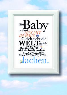 Ein BABY wohnt nun mit im HAUS... von BarbsHome auf DaWanda.com