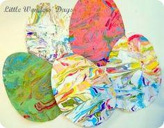 Fräulein Löwenzahn wird Kindergärtnerin: Ostereier aus Papier - schnell gemacht