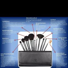 The Arbonne Makeup Brush Set has EVERYTHING you need and comes with a beautiful carry and storage case!